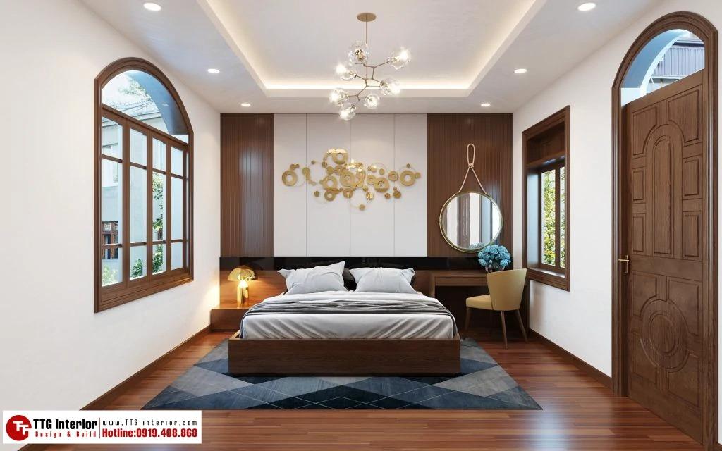 nội thất phòng ngủ nhà phố tân cổ điển