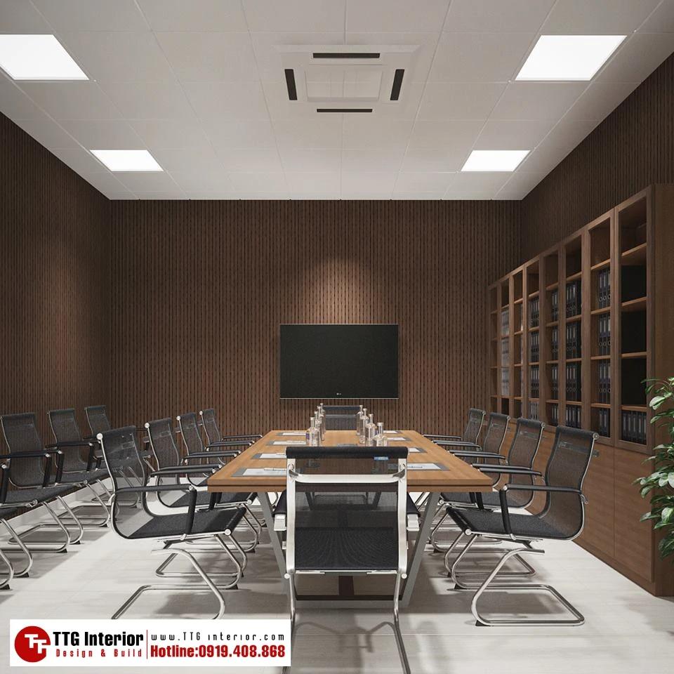 phòng họp thiết kế tối giản