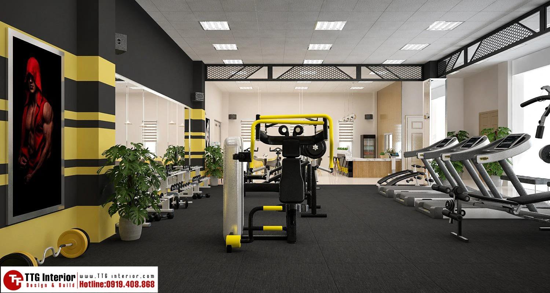 Thiết kế phòng gym trong công ty