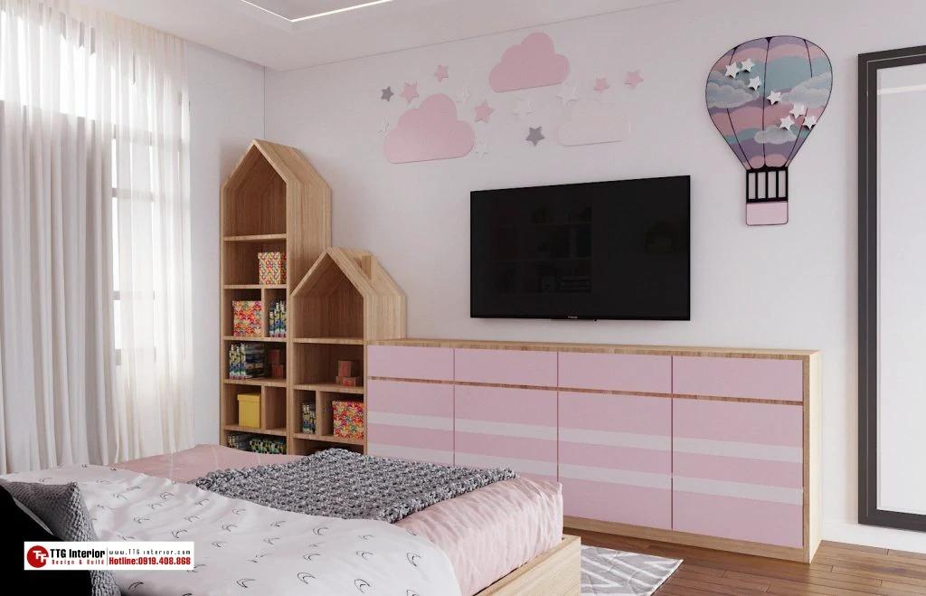 phòng ngủ dành cho bé gái dễ thương