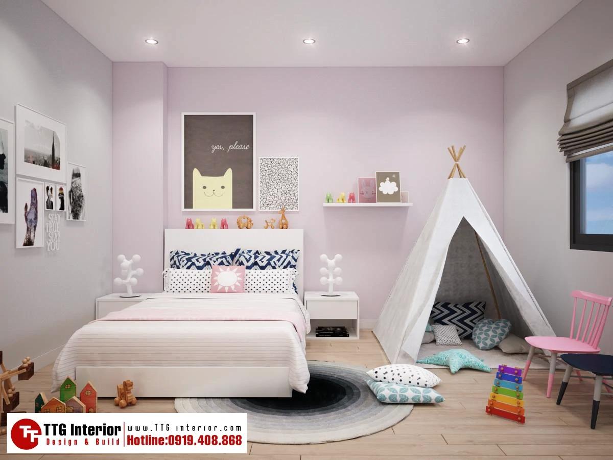 phòng ngủ bé gái thích sự mộng mơ