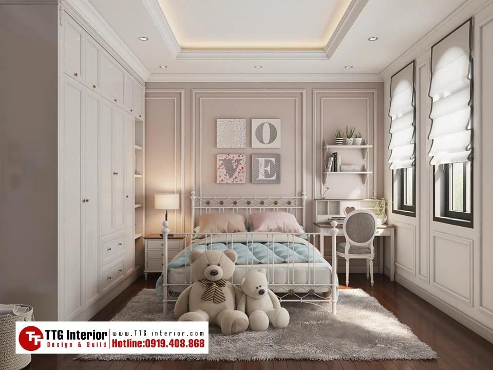 phòng ngủ dành cho bé gái ngọt ngào