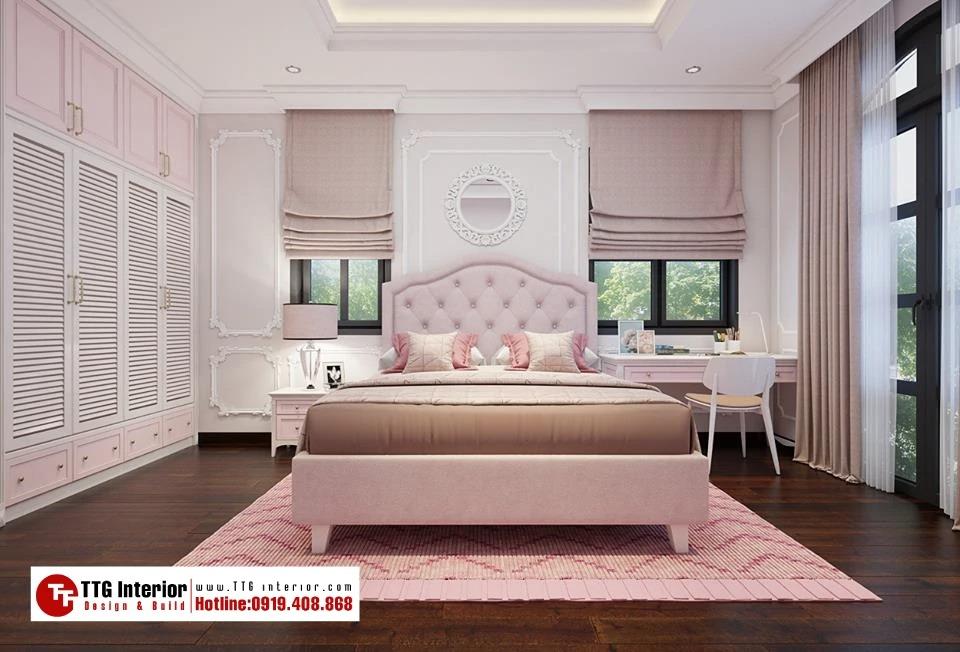 phòng ngủ dành cho bé gái sang chảnh