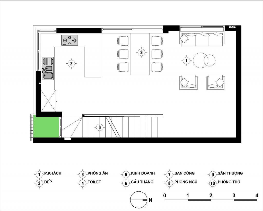 Thiết kế nhà 5x8 house