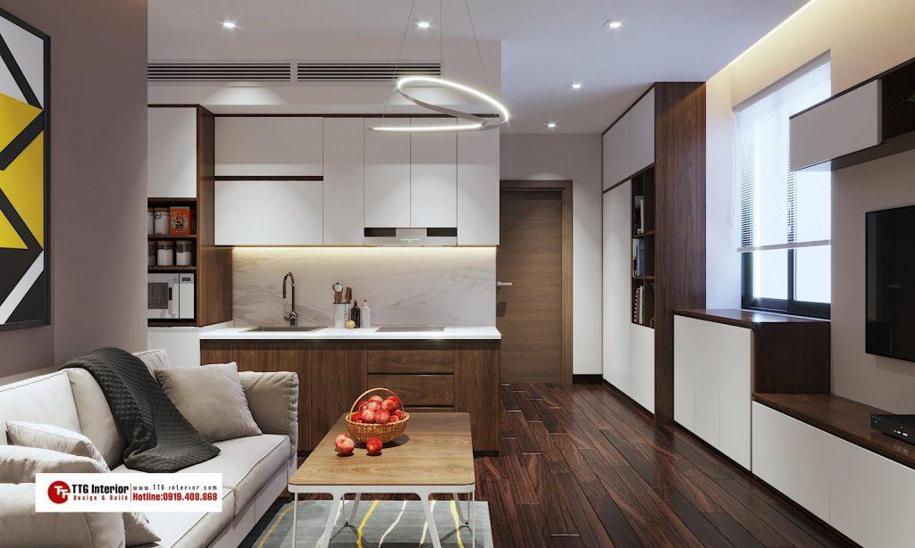 Thiết kế nội thất căn hộ cao cấp khách sạn Văn Cao, Hải Phòng