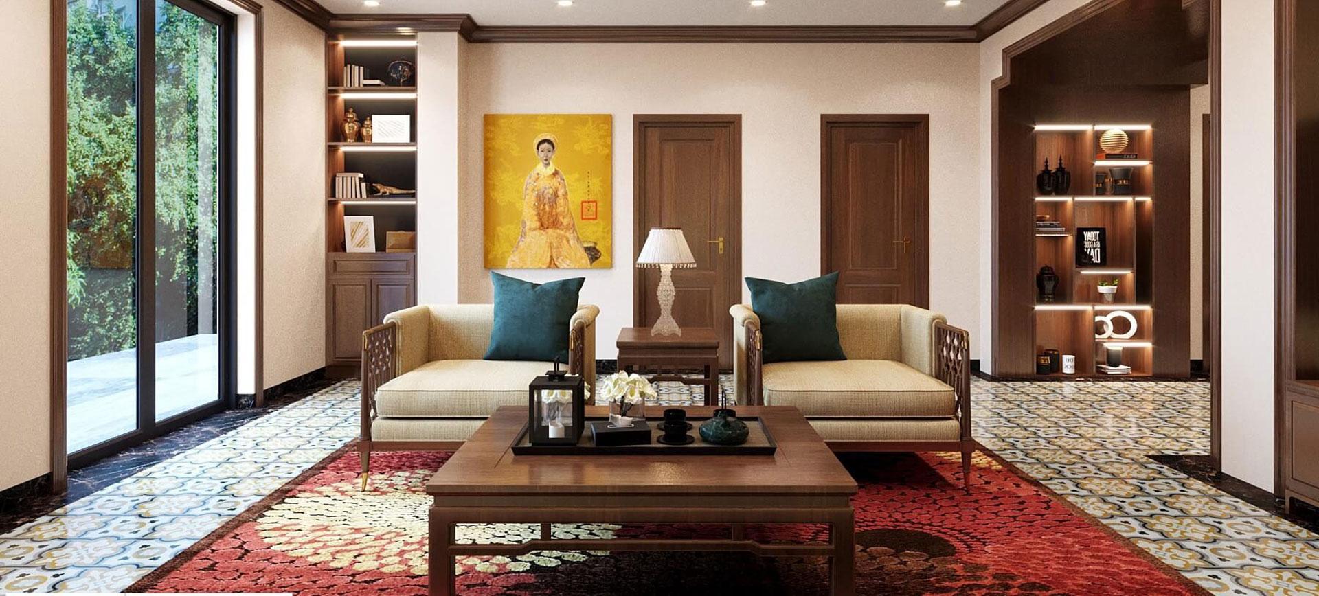 thiết kế nội thất phòng khách nhà phố hải phòng