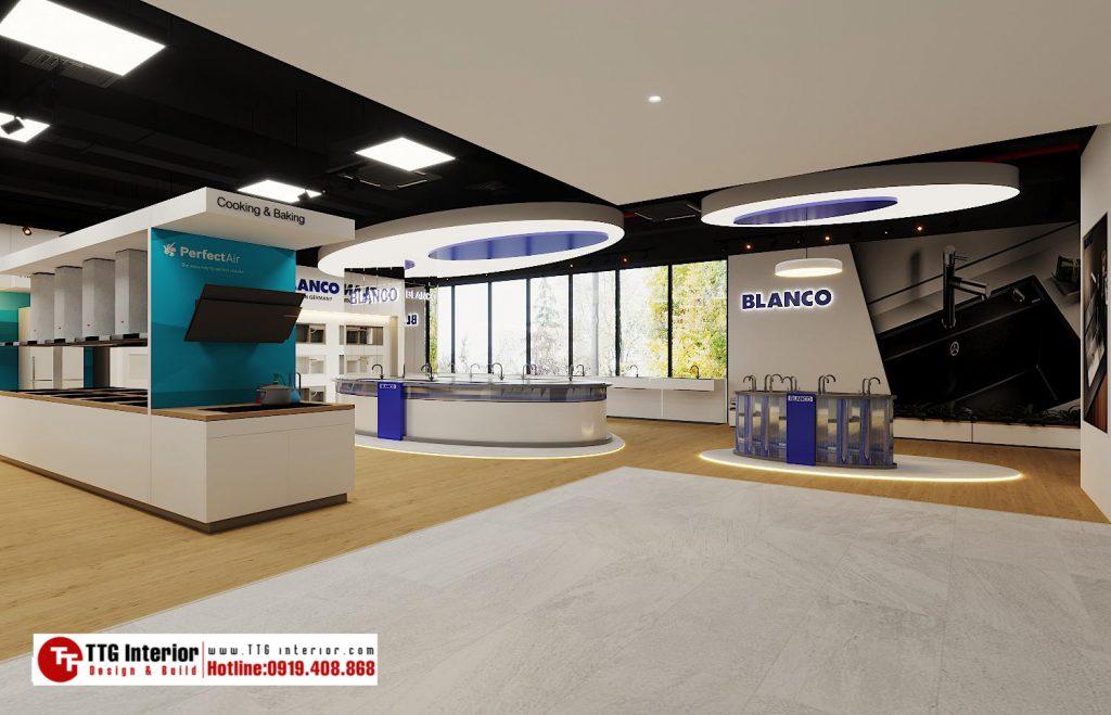 Thiết kế nội thất văn phòng Showroom Bosch Hà Nội