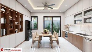Phòng bếp hiện đại, trẻ trung với tone màu sáng