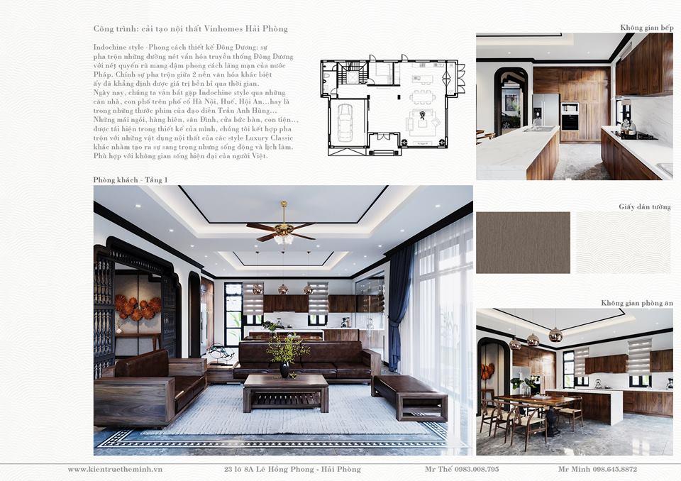 Thiết kế nội thất phong cách Indochine Vinhomes Imperia
