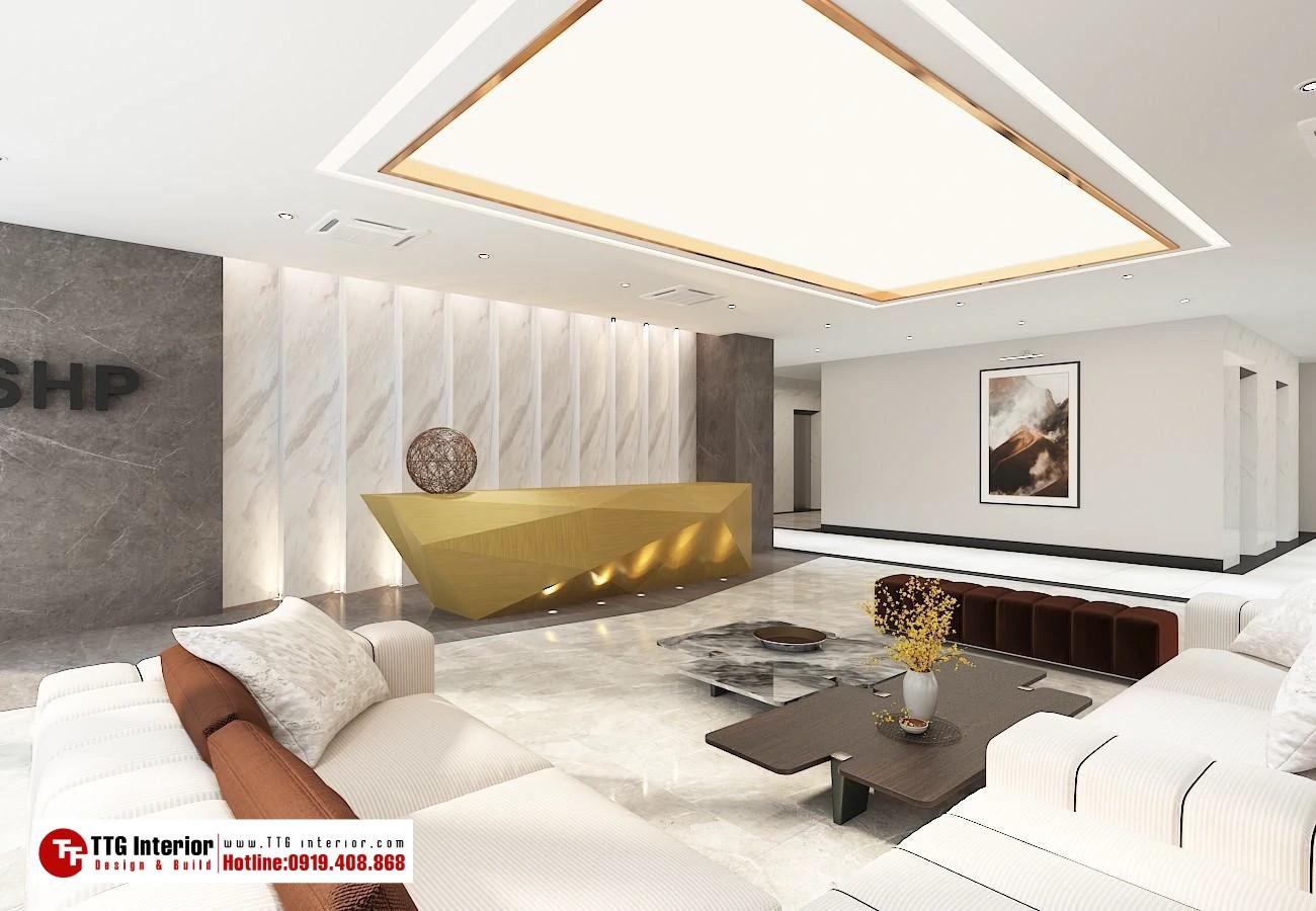 Thiết kế thi công nội thất văn phòng SHP Hải Phòng
