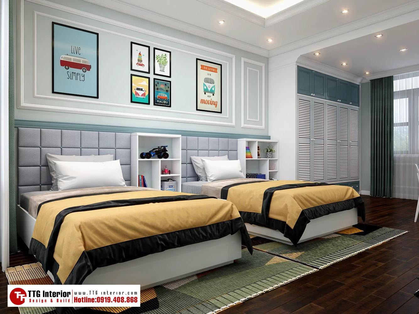 Thiết kế nội thất biệt thự phân khu Mahattan Vinhomes Imperia – nhà chị V