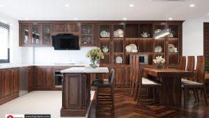 tủ bếp gỗ óc cho sang trọng