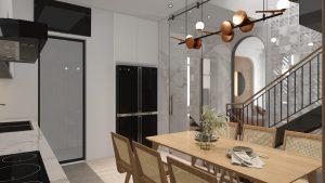 Tủ bếp tối giản, tiện nghi với 2 tone màu chủ đạoTủ bếp tối giản, tiện nghi với 2 tone màu chủ đạo