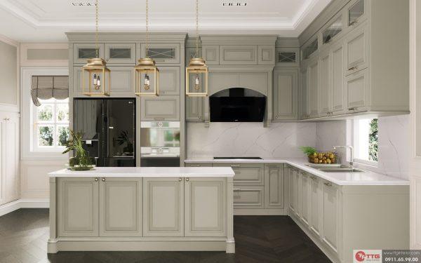 Tủ bếp tân cổ điển dự án FLC Hạ Long