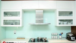 Tủ bếp hiện đại nhưng không kém phần sang trọng