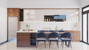 Tủ bếp hiện đại, tối giản nhưng vẫn đảm bảo tiện nghi