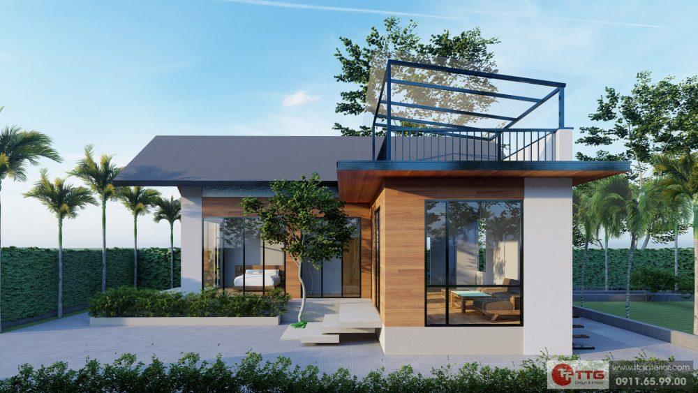 Dự án Nhà Vườn An Đồng - Góc nhìn chính diện