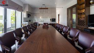 Phòng ăn rộng rãi cho đại gia đình