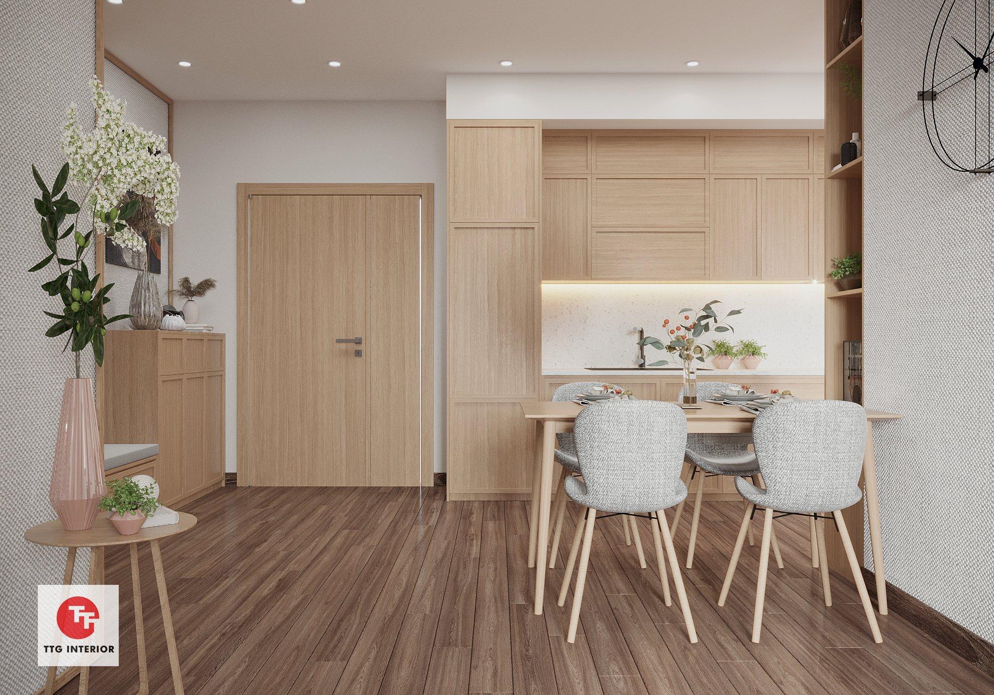 Phòng bếp ăn với giải pháp đồng bộ từ gỗ công nghiệp An Cường